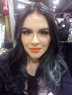 Orange makes my grey hair look pretty.  Grey Hair Looks, How To Look Pretty, Orange, How To Make