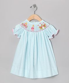 Take a look at this Blue Princess Bishop Dress - Infant & Girls by Sweet Teas Children's Boutique on #zulily today!