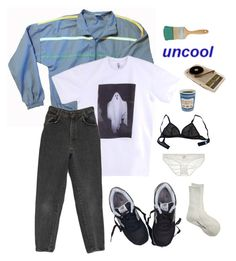 """""""STEREOBLUE II"""" by shvnnon on Polyvore featuring American Apparel, New Balance, Eres, Comme des Garçons and Only Hearts"""