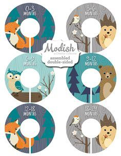 Closet Dividers, Assembled, Baby Closet Dividers, Closet Organizer, Woodland Nursery Decor, Boy, Fox, Bear, Owl, Woodland, Baby Shower Gift by ModishCC on Etsy https://www.etsy.com/listing/246535283/closet-dividers-assembled-baby-closet