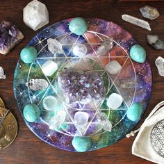 Cosmic crystal grid. A beginners guide to crystal grids #sacredgeometry #crystalhealing