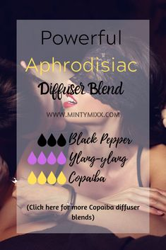 Sex This aphrodisiac diffuser blend uses Ylang-ylang, Black Pepper, and Copaiba essential oil. Essential Oil Aphrodisiac, Copaiba Essential Oil, Essential Oil Perfume, Essential Oil Diffuser Blends, Essential Oil Uses, Essential Oils For Eczema, Black Pepper Essential Oil, Black Pepper Oil, Nail Polish