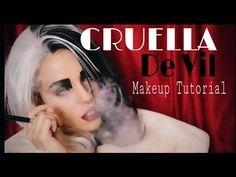 Once Upon A Time | Cruella De Vil Makeup Tutorial - YouTube