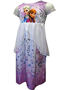 Disney Frozen Little Scrolling Nightgown. ** Visit the image link more details. (This is an affiliate link)