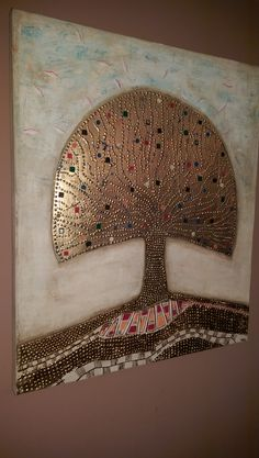 Tree of Life. Hand Fan, Home Appliances, Earth, Paintings, Abstract, Gold, Life, House Appliances, Summary
