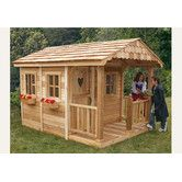 Sunflower Playhouse with 3 Functional Window and Cedar Deck Porch. I think i know someone who could build this ;)