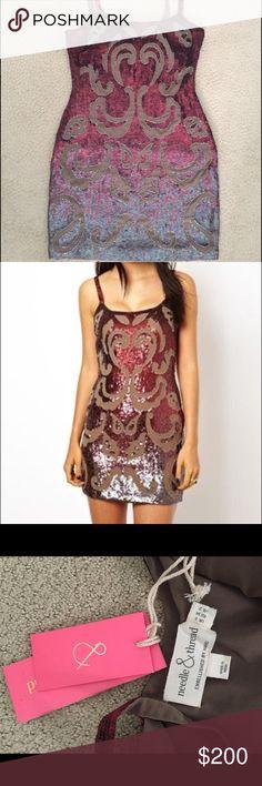 Needle and thread new dress size 2 Beautiful dress never worn! Sequins needle & thread Dresses Mini