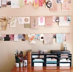 Great idea to still display old greeting cards...possibly put in classroom for notes, cards, etc.?