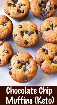 A very easy recipe for healthy keto chocolate chip muffins. breakfast brunch healthyrecipes muffins chocolatech - A very easy recipe for healthy keto chocolate chip muffins. A very easy recipe for healthy keto chocolate chip muffins. Keto Breakfast Muffins, Healthy Muffins, Breakfast Recipes, Breakfast Ideas, Breakfast Casserole, Low Carb Breakfast Easy, Ketogenic Breakfast, Breakfast Cereal, Breakfast Bars