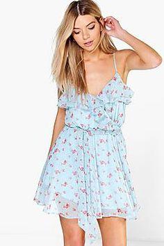 Daisy Цветочные шифоновое платье Frill Skater