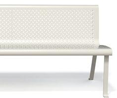 guyon banc metal INITIAL blanc mobilier urbain / guyon white INITIAL metal bench street furniture