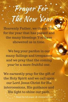 In lieu of the New Year, I write this prayer in reflection of our many needs: personally, in family, in our society and the world. [...]