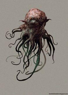 Octopus creatures alien картины 및 монстров Wild Creatures, Fantasy Creatures, Mythical Creatures, Monster Concept Art, Alien Concept Art, Creature Feature, Creature Design, Cthulhu, Baby Draw