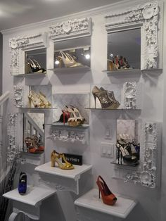 Another picture of the same shoe display. It's a store in New York called Ruia