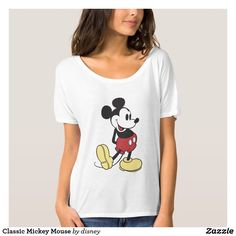 Shop Classic Mickey Mouse T-Shirt created by MickeyAndFriends. Personalize it with photos & text or purchase as is! Mickey Mouse Design, Classic Mickey Mouse, Mickey Mouse T Shirt, Mickey Mouse Birthday, Black And White T Shirts, Disney Fun, Family Shirts, Disney Outfits, Graphic Tees