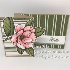 Linda Dalke: Video Tutorial: Easy Z-Fold Magnolia Card Fun Fold Cards, Cute Cards, Pretty Cards, Magnolia Stamps, Stampin Up Catalog, Stamping Up Cards, Flower Cards, Making Ideas, Cardmaking