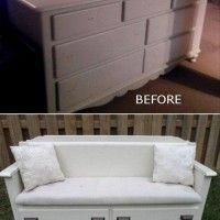 DIY- Transform your Old Dresser into Fabolous Bench