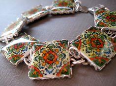 Mexican Talavera tile bracelet