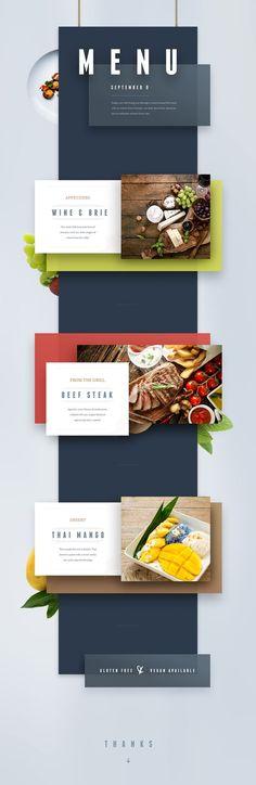 restaurant menu online inspiration #web #design