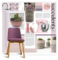 """""""Pinks, Etc."""" by s-elle ❤ liked on Polyvore featuring interior, interiors, interior design, home, home decor, interior decorating, Dassie, ROTD Creations, Kiss That Frog and KitchenAid"""