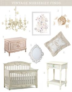 Vintage nursery, so beautiful & elegant for a little girl < I hope I need this instead of more monkeys, alligators and elephants.   ;)  We'll know soon enough