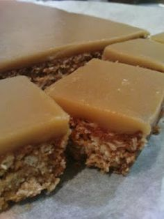 Hello! So today I am blogging about my Mum's most recent delicious discovery that is Ripe Deli's Oaty Ginger Slice. Once again it wasrecommendedby the wonderful Sue. I blame Sue for many ingested calories over the last few years. She should probably stop giving Mum all these recipes, but