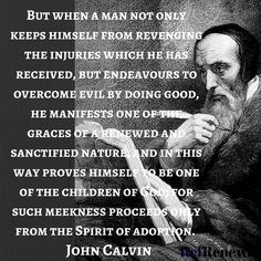 Overcome evil by doing good. Christian Life, Christian Quotes, Christian Church, Christian Living, John Calvin Quotes, Surrender To God, My Redeemer Lives, Grace Alone, Protestant Reformation