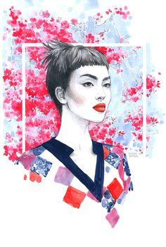 Editorial fashion illustration