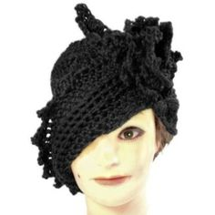 crochet cloche hat pattern free | Black Hair Headband for Women by strawberrycouture on Etsy