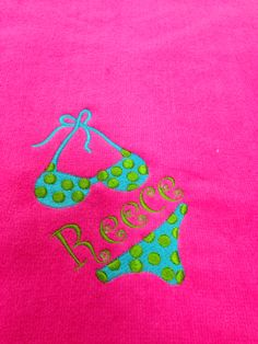 Monogramed beach towel by Doodlz Designz.