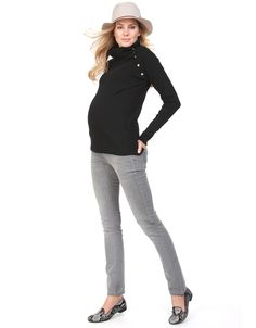 Button down detail for nursing Soft cashmere blend knit Ribbed detail at  the neckline and cuffs 9ae7d7514
