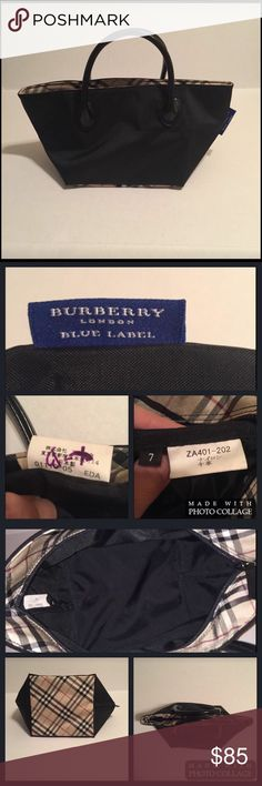 Burberry Blue Label Mini Tote In excellent used condition, purchased in Japan. No rips, tears or stains. Interior is spotless. Burberry Bags Mini Bags