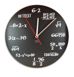I just love the originality and nerdiness of this clock... Smart, fun, and with bold colors and clean lines that definitely make a statement...