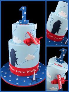 so incredible for a kids birthday cake! Fondant Cake Designs, Fondant Cakes, Cupcake Cakes, Planes Cake, Airplane Cakes, Airplane Party, Pretty Cakes, Cute Cakes, Diy Birthday Cake