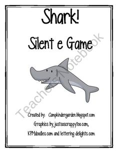Silent e/CVCe Shark Game! from CampKindergarten on TeachersNotebook.com (6 pages)  - In this card game students practice blending sounds and reading words with silent e. This game is a great RTI interventions, small groups or literacy centers.   For more ideas be sure to visit my blog! Campkindergarden.blogspot.com