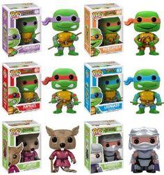 Amazon.com: Funko POP Teenage Mutant Ninja Turtles Pop Vinyl Figures - Set of 6: Toys & Games