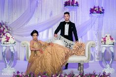 This darling duo pose for pics at their Indian wedding! Bridal Poses, Bridal Photoshoot, Wedding Poses, Wedding Shoot, Wedding Couples, Wedding Portraits, Wedding Decor, Dream Wedding, Wedding Reception Chairs