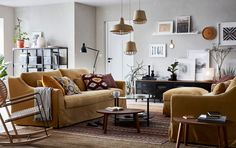 Brown Leather Living Room Furniture Leather Sectional Beige Brown And Yellow Living Room With Pair Of FÄrlÖv Ikea Living Room Furniture Ideas Ikea Ireland Dublin Living Room Furniture Inspiration, Leather Living Room Furniture, Home Furniture, Furniture Ideas, Modern Furniture, Antique Furniture, Brown Furniture, Rustic Furniture, Furniture Layout