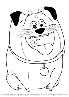 Max from The Secret Life Of Pets Coloring Page robertleboutheller