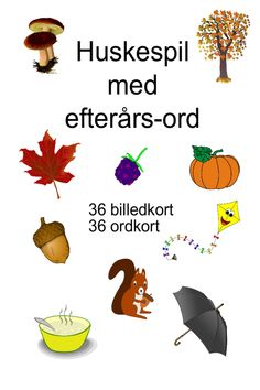 Huskespil med de 120 ord - Bubbleminds Animal Activities, Work Activities, Educational Activities, Toddler Activities, Autumn Crafts, Brain Breaks, Baby Development, Toddler Learning, Raising Kids