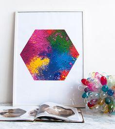Holi pigment poster #coloreveryday