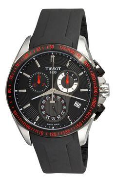 Tissot Men's T0244172705100 Veloci-T Chronograph Black Dial Watch