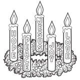 Hope, peace, joy Christmas Coloring Pages, Free Printable Coloring Pages for Kids