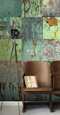 Esta Home Vintage Rules! WallpaperXXL Metalen platen 158203 | Esta Home Vintage Rules! | www.behangwereld.nl