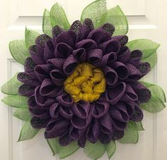 A personal favorite from my Etsy shop https://www.etsy.com/listing/289018793/dahlia-flower-wreath-customize-your-own