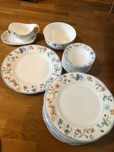 Villeroy & Boch «Mariposa» servise | FINN.no Fine Porcelain, Decorative Plates, Tableware, Dinnerware, Tablewares, Dishes, Place Settings