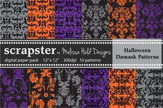 Check out Halloween Damask Patterns by scrapster on Creative Market