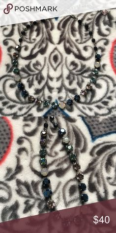 🌹 Sabika necklace 🌹 Pretty fall colors (blues, greens, off white, beige) Necklace. 16- 18.5 inches adjustable. Worn a few times, excellent condition. Sabika Jewelry Necklaces