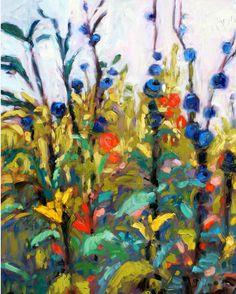 "Ivy Delon Fine Art-""Delphinium Garden"""