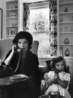 Jackie and Caroline Kennedy